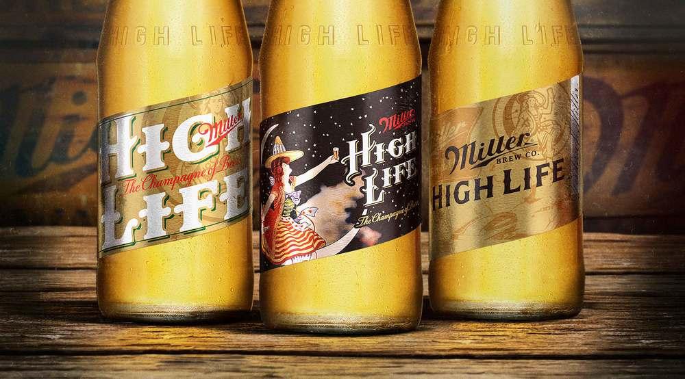 miller beer label