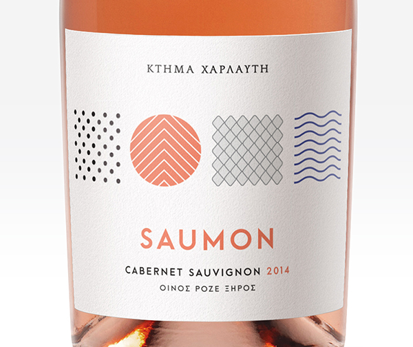 wine label rose with salmon inspiration
