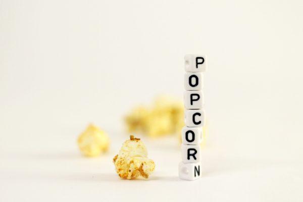 popcorn lettering