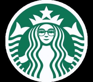 Starbucks hipster logo