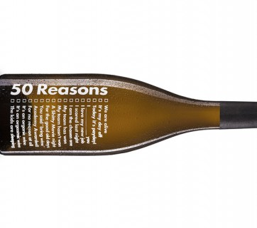 wine bottle with a message