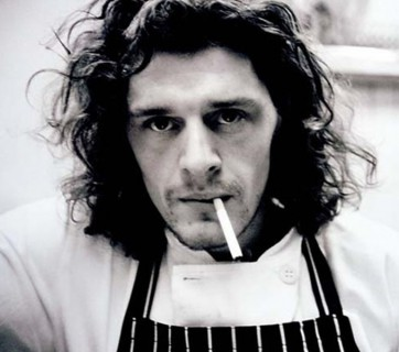 marco pierre white portrait in black and white
