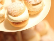 swedish semla close up