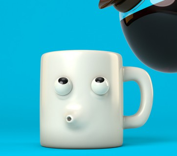 animated coffee cup