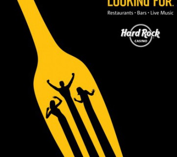 Hard rock casino design ad, fork
