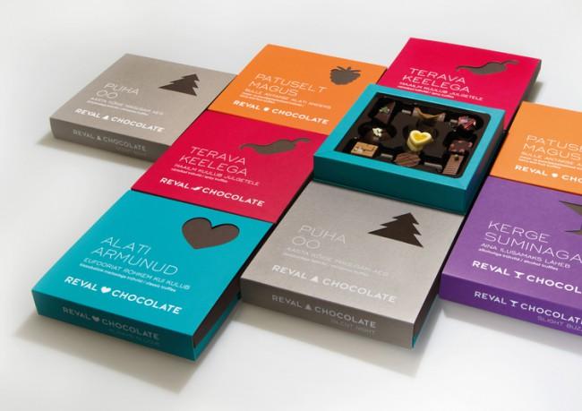 reval chocolate packaging