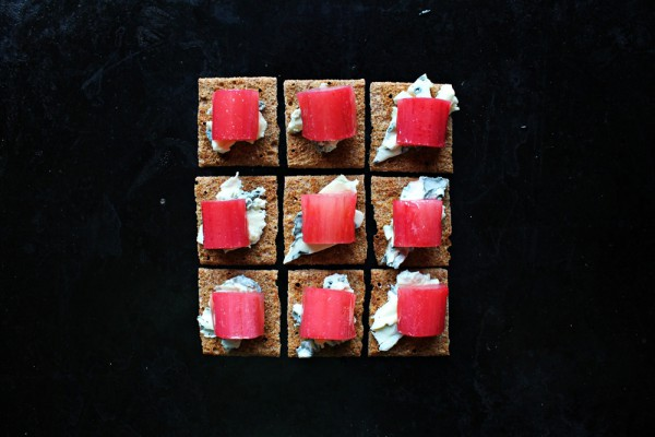 rhubarb with goat cheese