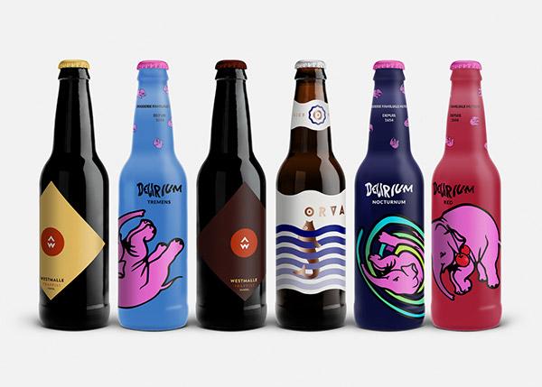 belgian beer label design