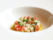 tomato and melon tartar