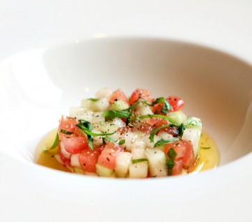 tomato and melon tartar