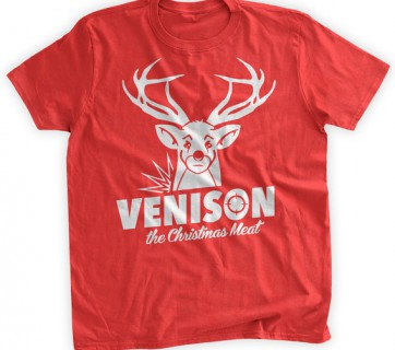 venison christmas meat t shirt