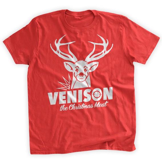 venison christmas meat t shirt