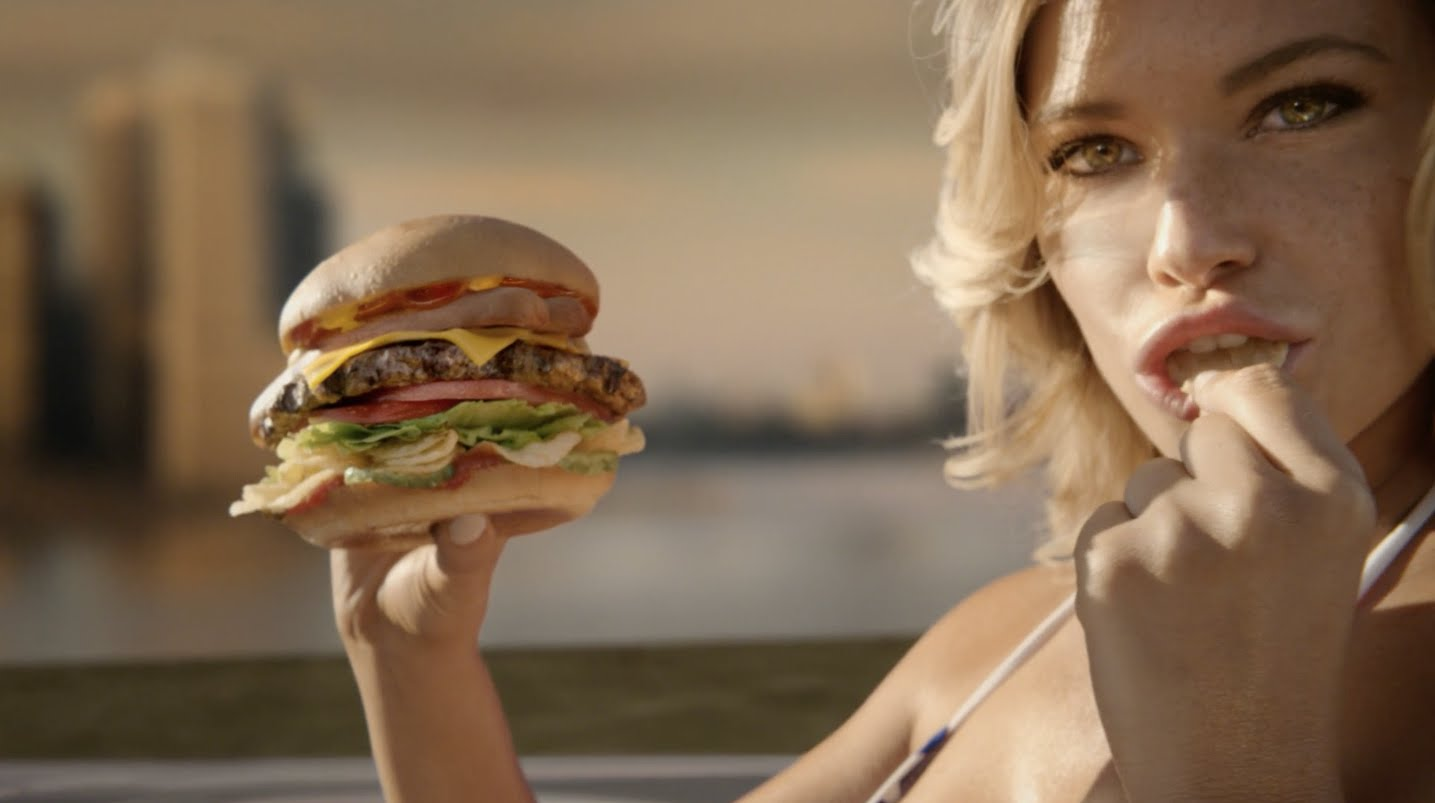 an analysis of the use of womens body to sell burgers on the carls jr ads Two utah women say carl's jr has gone too far with its long-running line of tv ads featuring women in bikinis eating burgers in seductive poses.
