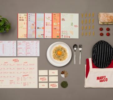 marco marco pasta branding