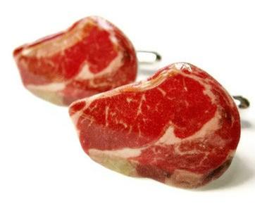 Steak cufflink, Food cufflink collection