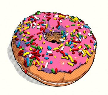 fictional food art simpson donut