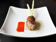 Pork Skewers with lemongrass and sriracha