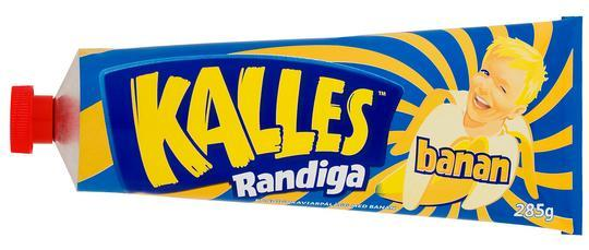 Kalles Banana Kaviar in a tube