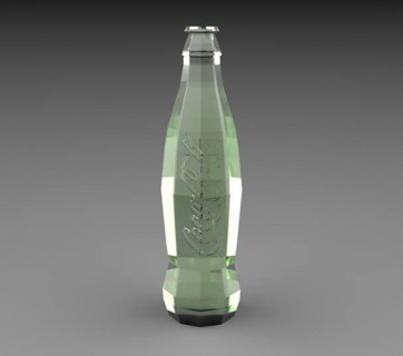 Coca-Cola bottle with straight lines