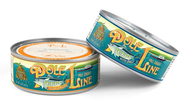 Pole and Line Tuna can for Whole Foods