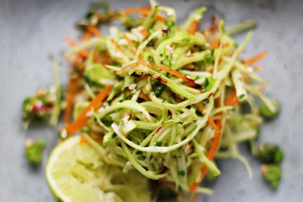 Asian Coleslaw with lime, sesame seeds and cilantro