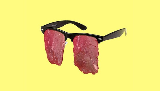 Meat art photography - Meat sunglasses