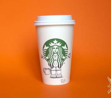 Illustrations on Starbucks Cups