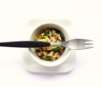 Calamari salad with sesame seeds