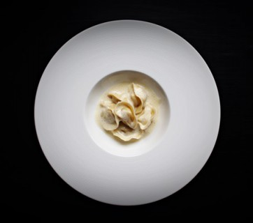Tortellini with Jerusalem Artichoke and Black Truffle Filling