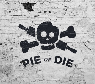 Pie or Die: Check out this cool branding for Pie or Die at Ateriet