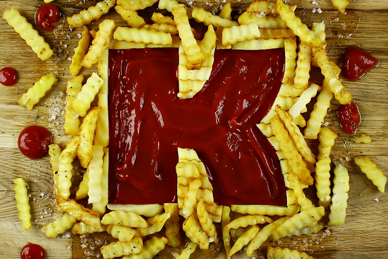 A-Z Food Photography Project - K is for Ketchup, see it at Ateriet.com Food Letters Food Alphabet A to Z Food Food Typography