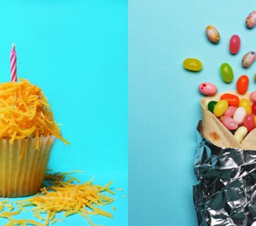 Great food pun photographs by designer Lizzie Darden see them at Ateriet.com