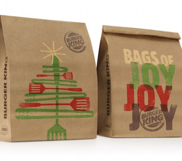 Celebrate Christmas with this Burger King Christmas Packaging