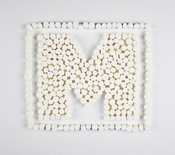 A-Z Food Photography Project - M is for Marshmallows, see more at Ateriet.com Food Letters Food Alphabet A to Z Food Food Typography