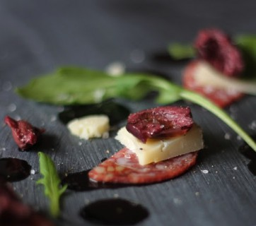 Italian Salami with Manchego Cheese and Greek Olives