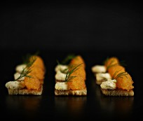 Bleak Roe on Toast with Lemon Smetana and Dill - get the recipe at Ateriet.com