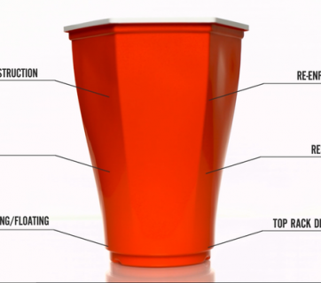The Hexcup that will take beer pong to the next level