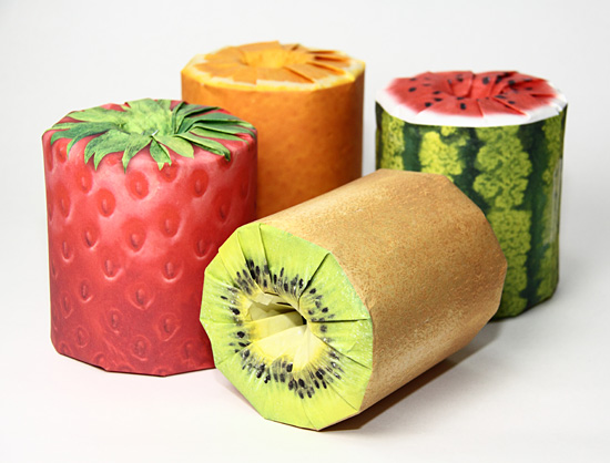 Wipe it with fruit - It's the fruit toilet paper