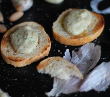 White Bean Hummus on Crostini