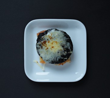 Portobello Mushroom Toast with Gruyere Cheese