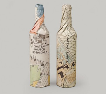 Paper wrapped wine bottles - 10 Cool Design Ideas, check them out at Ateriet
