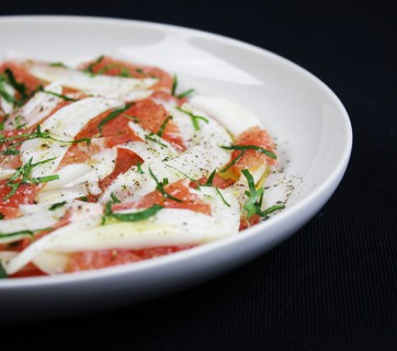 Fennel and Grapefruit Salad with Black Pepper and Parsley