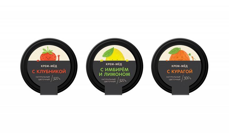 Cute Honey Packaging combines Honey with Berries