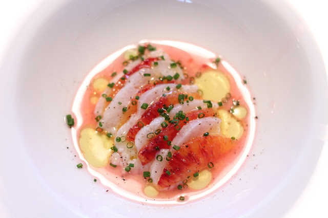 Cod Ceviche with Blood Orange and Chives
