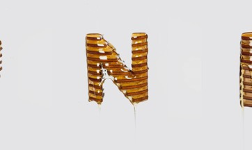 Honey Lettering - the entire alphabet in honey and wood