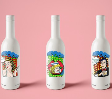 Super Cool Pop Art Beer Bottles