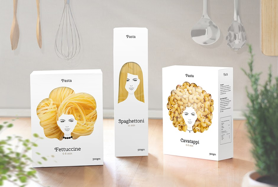Hairy Pasta Packaging - Clever Idea for Pasta Packaging