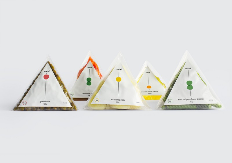 Triangular Food Packaging System Meld