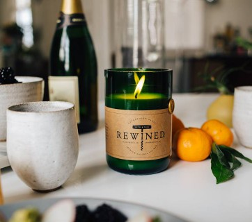 Wine Scented Candles in Wine Bottles by Rewined