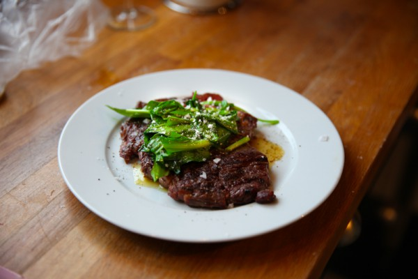 Ribeye with Ramps and Butter